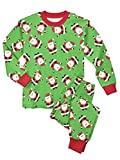 Sara's Prints Little Boys' Super Soft Relaxed Fit Pajama Set, Hooray Santa - HYS, 7