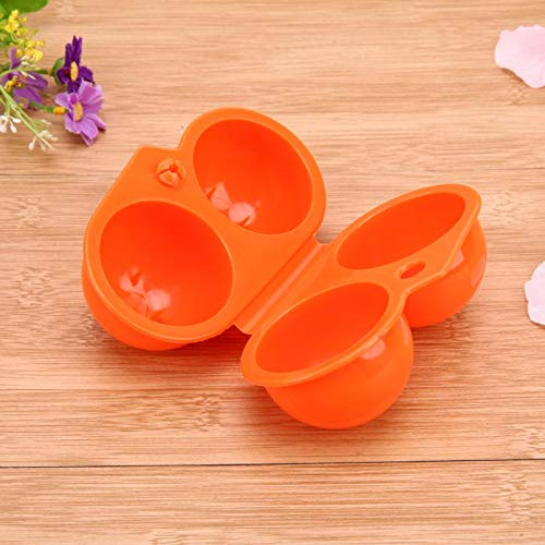 Yichener 1Pc Plastic Portable Kitchen 2 Egg CaseStorage Box Organizer Food Container Hiking Outdoor Camping Carrier for 2 Egg Box Tool by Yichener (Image #3)