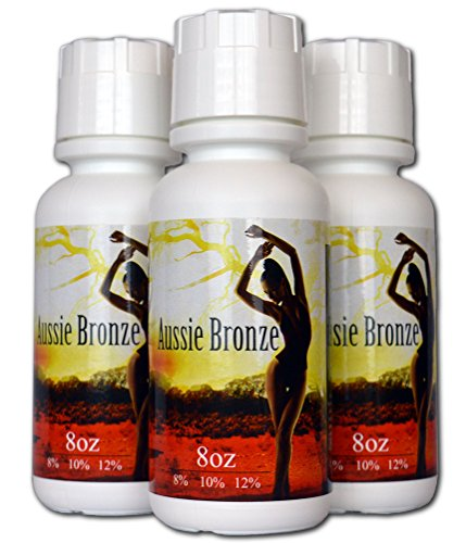 Aussie Bronze 8 oz Each of 8%, 10%,12% DHA Sunless Airbrush Spray Tanning Solution Sample Pack