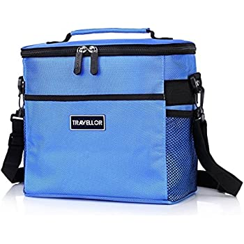 this item insulated bag kingswell i7602 lunch tote bag box cooler bag silver interior and long handles picnic cold drink insulation cooler bag freezable
