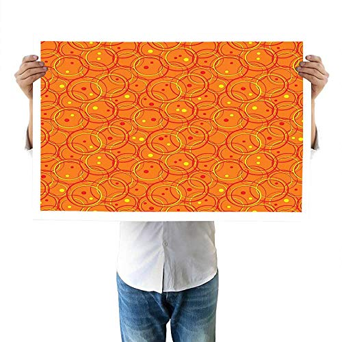 - Burnt Orange top Circle Patterns in Fashion Trend Colors on Retro Dotted Background Decorative fine 32