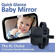 [Sponsored] DriveMate Baby Car Mirror Large Wide Angle, Backseat Rear View Clarity   Babies, Toddlers   Adjustable Nylon Straps   Fits Cars, Trucks, SUVs   Shatterproof Safety Glass
