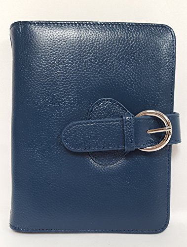 "Leather ""Ava"" Binder Compact - Teal"
