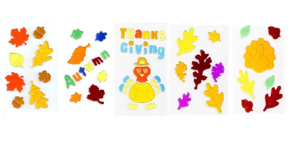 Fall thanksgiving Window Gel Art - Set of 5