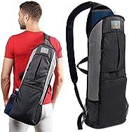 IMARANA Yoga Mat Bag   Yoga Carrier Backpack with Versatile Storage Mesh and Zipper Pockets