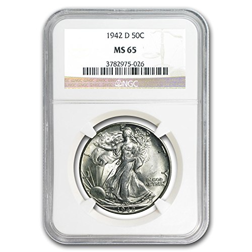 1942 D Walking Liberty Half Dollar MS-65 NGC Half Dollar MS-65 NGC