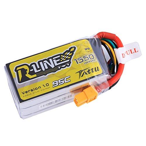 Tattu  R-Line 1550mAh Lipo Battery Pack XT60 Plug For FPV Ra