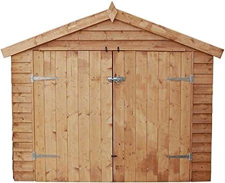 Bicicleta Store 7 x 3 valor superposición de madera con puertas dobles (10 mm OSB suelo): Amazon.es: Jardín