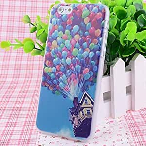 CuteFaiy Cases For Apple Iphone Balloons Wood House Pattern Good Feeling Effect of Embossment Back Case for iPhone 6