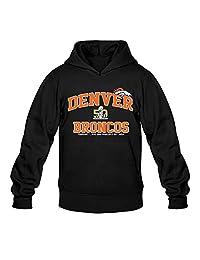 Men's Denver Broncos 2015 AFC Champions Super Bowl 50 Hoodie- Black