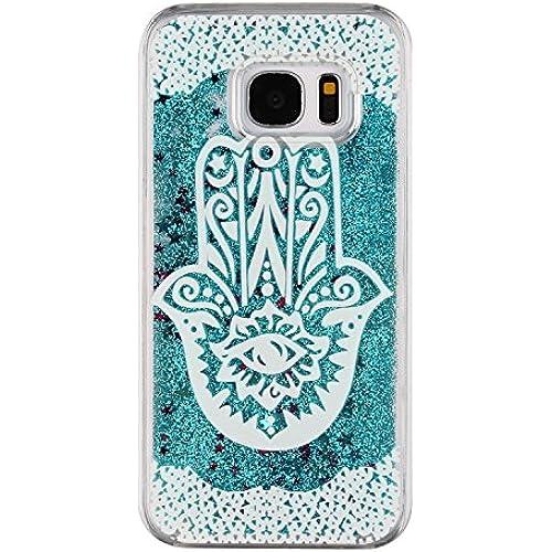 Galaxy S7 Edge Case, Galaxy S7 Edge Hard Case,PHEZEN Fashion Novelty Flowing Liquid Floating Bling Glitter Sparkle Sales