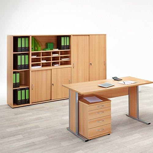 Büromöbel Set SERIE4000 Buche hell Nachbildung bestellen