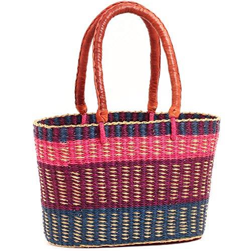 (Fair Trade Ghana Bolga African Apuseke Shopper 14.5-15.5