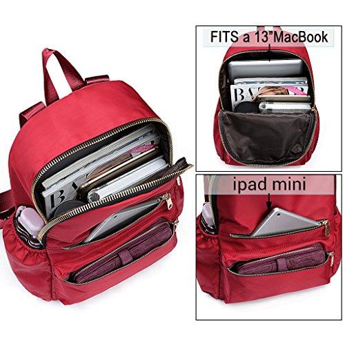 Escuela Bookbag de viaje hombro Oxford bolsa portátil tela mochila UTO Camo impermeable Unisex Colegio de Rojo Nylon Mochila bolsa PSqfww4zxA