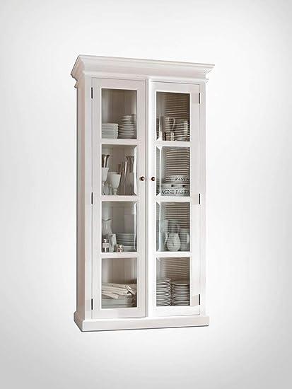 amazon com novasolo halifax pure white mahogany wood double rh amazon com small china cabinets with glass doors black china cabinets with glass doors