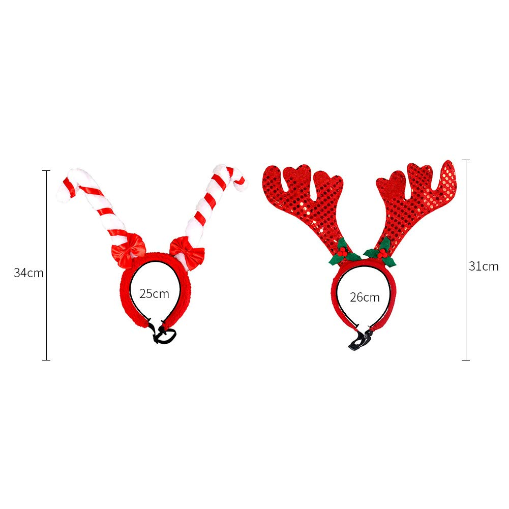 0a36cf813e184 Amazon.com   BUYITNOW 2Pcs Dog Headband Costume Flowers Holiday Christmas  Reindeer Antlers Ears Wearable Cats Dogs   Pet Supplies
