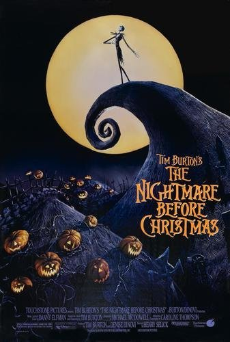 Image result for nightmare before christmas movie poster""
