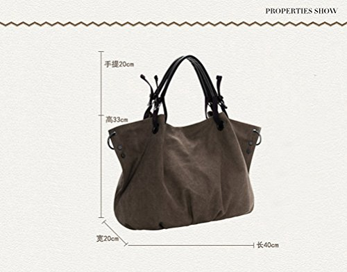 Hobo Crossbody Rucksack Bag with Leather Messenger Shoulder Woman Bookbag Handbags E Weekender bag Oversized Canvas trim Backpack qYzAnqHwxB