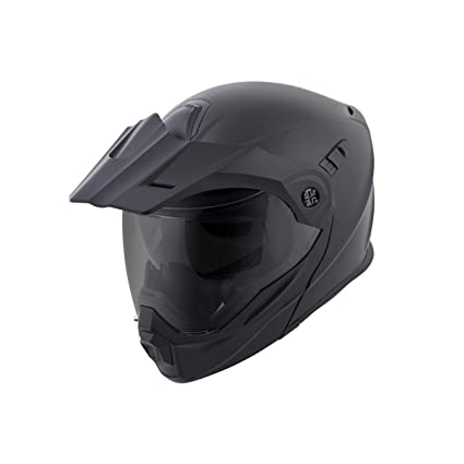 ScorpionEXO Unisex-Adult Modular/Flip Up Adventure Touring Motorcycle Helmet (Matte Black,
