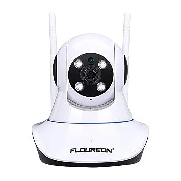 FLOUREON Cámara IP inalámbrica, cámara WiFi de vigilancia de Seguridad Interior 1080P con Ranura para