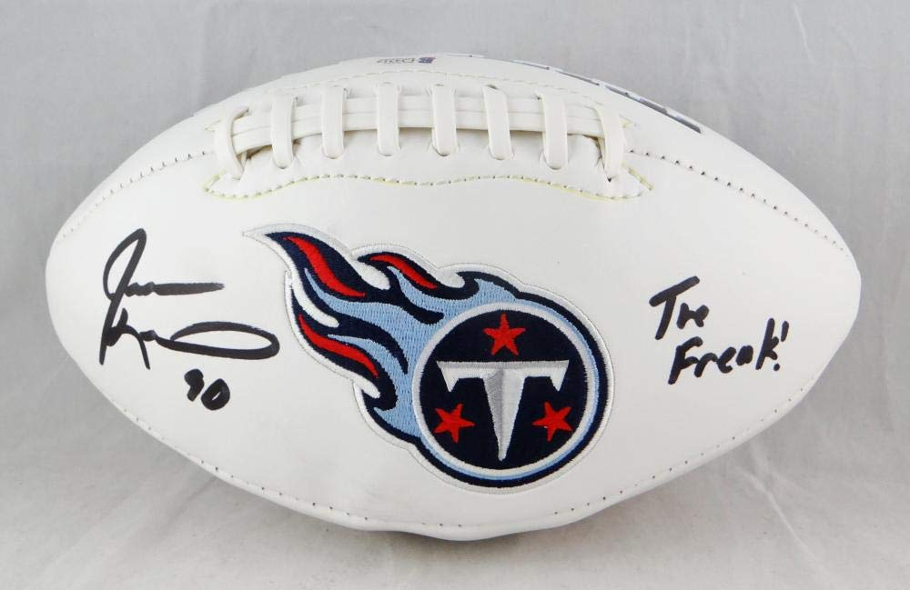 Jevon Kearse Autographed Tenn Titans Logo Football w The Freak- Beckett  Authenticated at Amazon s Sports Collectibles Store 190dac5c3