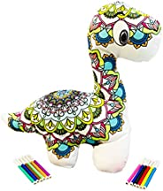 Coloring Diplodocus Plush Soft, Washable, and Reusable Mandala for Kids with Water-Based Markers. Original Fun