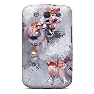 S3 Scratch-proof Protection Case Cover For Galaxy/ Hot White Christmas Tree Holidays Phone Case