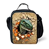 Showudesigns Cool Printed Animal Dinosaur Lunch Bags Keep Warm Picnic Bags