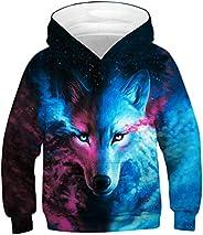 Sucor Boys Girls 3D Galaxy Hoodies Kids Outwear Cool Pullover Sweatshirt Jacket