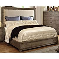 Furniture of America Rodelle Platform Bed, Eastern King, Natural Ash