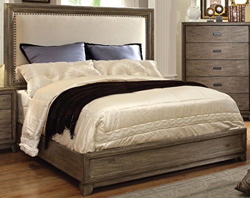 Furniture of America Rodelle Platform Bed, California King, Natural Ash