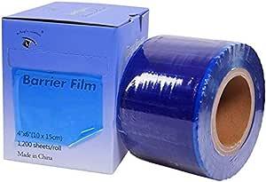 1TattooWorld OTW-BFB-1200 película de barrera de calidad superior, 1200 hojas, 10 x 15 cm, caja dispensadora estilo rollo