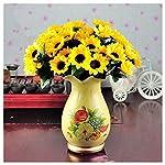 Latosiv-Fake-Sunflowers-Artifical-14-Heads-Fake-Sunflower-Silk-Cloth-Flower-Bouquet-Home-Floral-Wedding-Decor-Yellow-Flower-Flower-Wreath-Head-Hair-Flower-With-Artificial-Festival-Crown-Crown-F