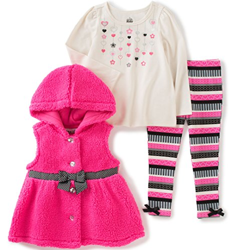 kids-headquarters-baby-3-pieces-sherpa-hooded-vest-pants-set-pink-12-months