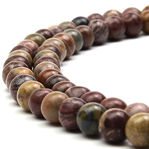 JARTC 8mm Natural Sparrow Stone Gemstone Round Loose Beads for Jewelry Making ()