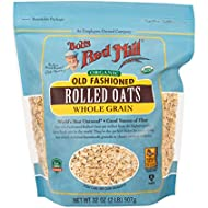 Bob's Red Mill Organic Regular Rolled Oats, 32 Ounces (Pack of 4, Package May Vary)