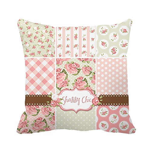 Yilooom Pillowcase Decorative Shabby Chic Flowers Canvas Home Decor Throw Pillow Covers 18