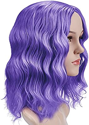Anotherme 14 Fashion Short Curly Wavy Purple Hair Wig Semi Handmade Women Girls Natural Synthetic Fiber Wig Party Cosplay Accessories Buy Online At Best Price In Uae Amazon Ae