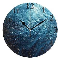 Wall Clock Ice Road Silent Non Ticking Decorative Round Digital Clocks Indoor Outdoor Kitchen Bedroom Living Room