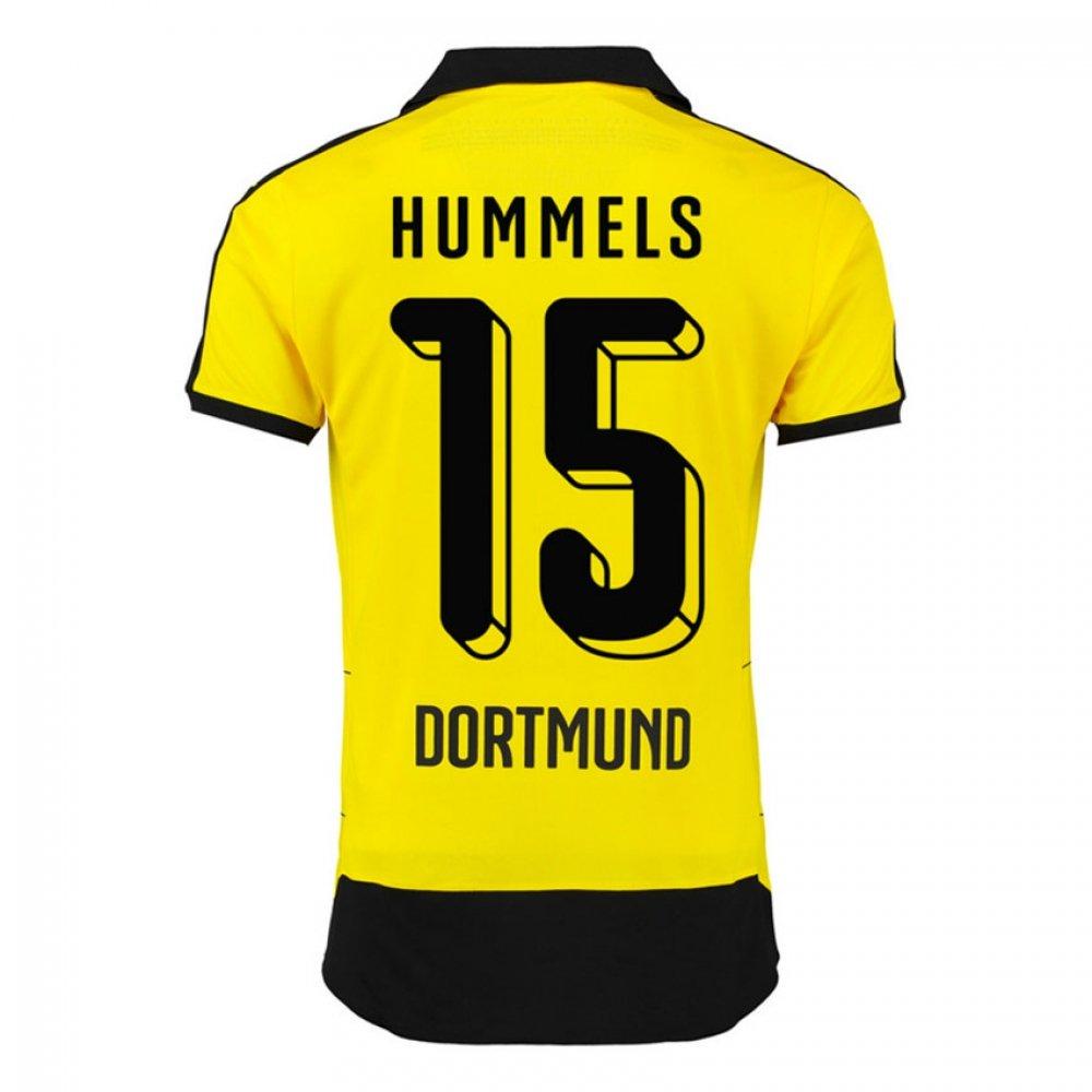 2015-16 Borussia Dortmund Home Shirt (Hummels 15) B078CQ7DY6Black XL Adults