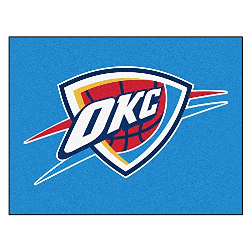 Fanmats 19463 33.75''x42.5'' Team Color NBA - Oklahoma City Thunder All-Star Mat by Fanmats