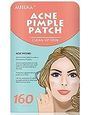 AUSLKA Blemish Pimple Patches, Blemish Spot Patch, Hydrocolloid Blemish Dots for Face (160 Patches)