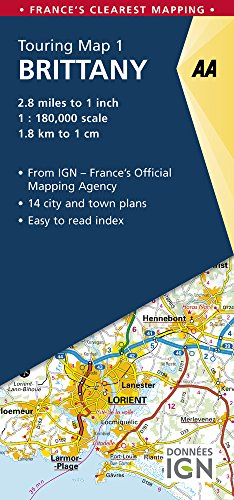 Brittany Touring Map (AA Road Map France)...