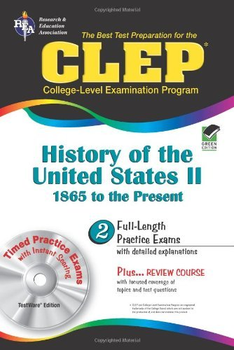 By Lynn Marlowe Ph.D. CLEP History of the United States II w/CD (REA) - The Best Test Prep for the CLE (Test Preps)