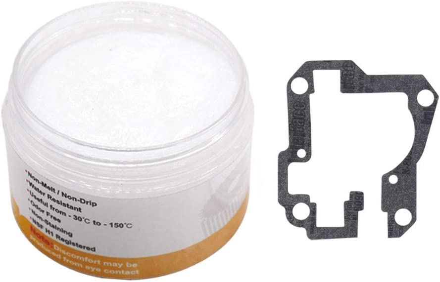 Xinghai 4oz Food-Grade Grease with 9709511 Gasket, Compatible with Kitchen Stand Mixer, Food Processing Equipment, and Frozen Dessert Equipment(1)