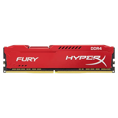 Kingston Technology HyperX FURY Red 8GB 2400MHz DDR4 CL15 DIMM 1Rx8 (HX424C15FR2/8) Internal Memory Card Readers at amazon