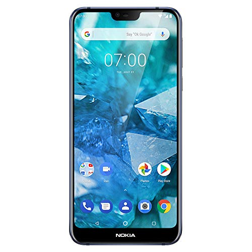 "Nokia 7.1 - Android 9.0 Pie - 64 GB - Dual Camera - Dual SIM Unlocked Smartphone (Verizon/AT&T/T-Mobile/MetroPCS/Cricket/H2O) - 5.84"" FHD+ HDR Screen - Blue - U.S. Warranty"