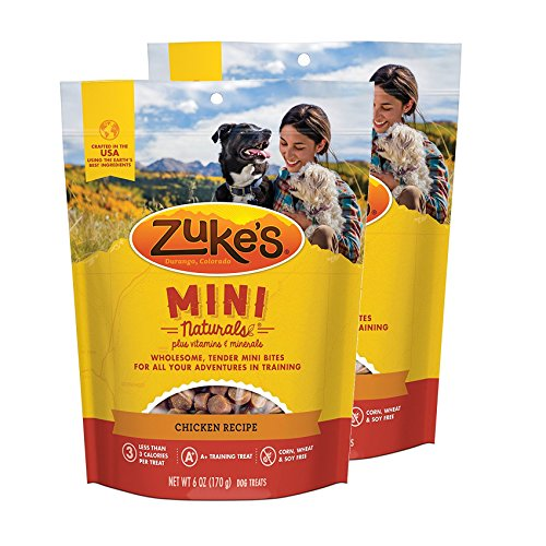 Zuke's Mini Naturals Dog Treats Chicken Recipe 6 oz 2 Pack