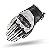SHIMA Caliber, Heritage Retro Vintage Classic Summer Motorcycle Gloves (S-XXL) (M, White)