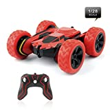 Rimila Electric RC Stunt Car 2WD Off Road Remote Control Vehicle 2.4GHz Racing Slot Cars High Speed 7.5MPH 360 Degree Rolling Rotating Rotation(Battery Not Included)